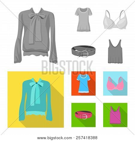 Vector Design Of Woman And Clothing Icon. Collection Of Woman And Wear Stock Vector Illustration.