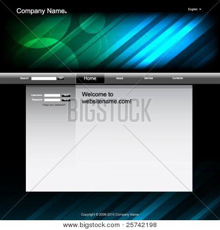 Website design template, dark and futuristic