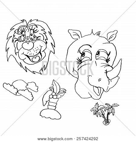 Summer Mood Drawing Animals Human Mimicry Lion With Smile