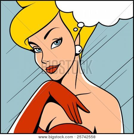 Retro woman / comics style