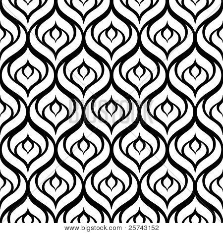a seamless black and white vector pattern