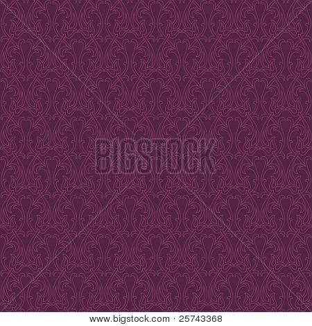 seamless pattern with stylized flora