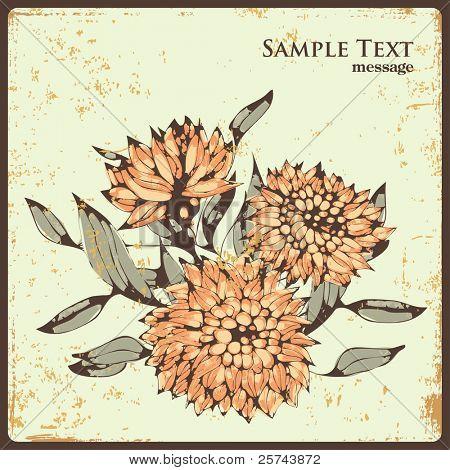 Fertigpäckchen-Design mit Blumen, vector