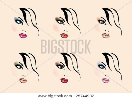 vector make up styles