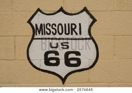 Missouri Route 66 Sign