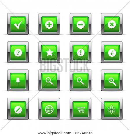 Glossy web icon