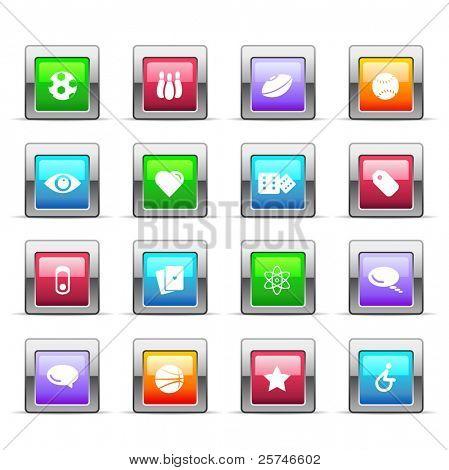 Glossy basic icons