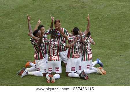 Rio, Brazil - September 09, 2018: Digao Player Celebrate In Match Between Fluminense And Botafogo By