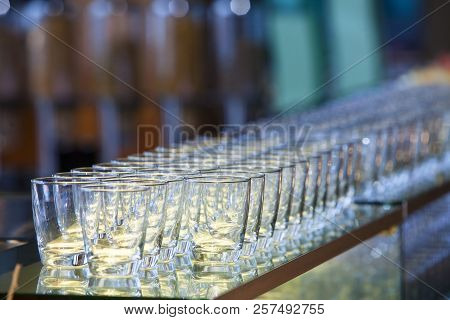 A Glass Of Water On Room Background,ready To Use.