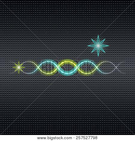 Light Wave Effect On Pattern Grunge Background, Stock Vector