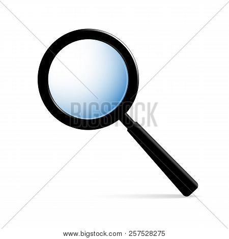 Magnifier, Magnifying Glass For Viewing Very Small Objects. For People With Poor Eyesight. With Blac