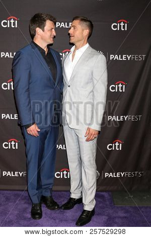 LOS ANGELES - SEP 7:  Nathan Fillion, Eric Winter at the 2018 PaleyFest Fall TV Previews - ABC at the Paley Center for Media on September 7, 2018 in Beverly Hills, CA