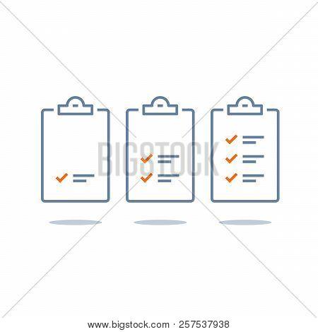 Task Management Check List, Efficient Work, Project Plan, Fast Progress, Level Up Concept, Short Que