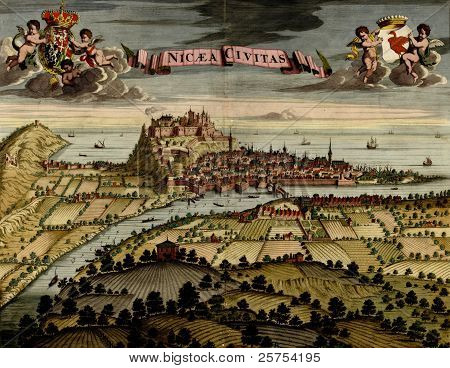 Antique Map Of Nicea