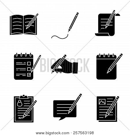 Writing Pencil Glyph Vector Photo Free Trial Bigstock