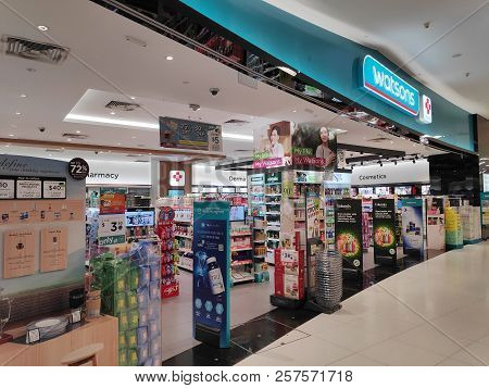 Singapore - 09 Sep 2018: Watsons Store Located In Vivocity Singapore. Watsons Personal Care Stores K