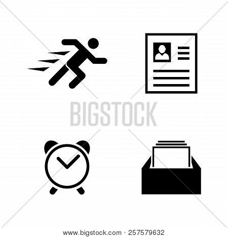 Business Organization. Simple Related Vector Icons Set For Video, Mobile Apps, Web Sites, Print Proj