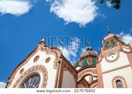 Subotica Synagogue Seen From The Bottom During The Afternoon. Also Known As Jakab And Komor Synagogu