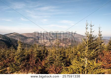 Malinowska Skala, Kopa Skrzyczenska, Male Skrzyczne And Skrzyczne Hills From Magurka Wislanska Hill