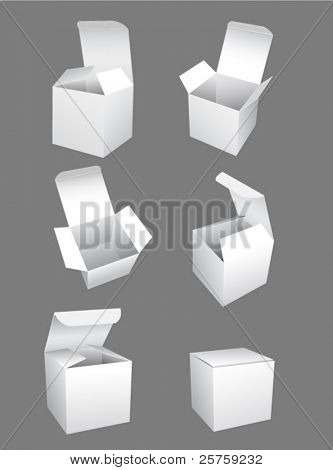 vector white boxes template
