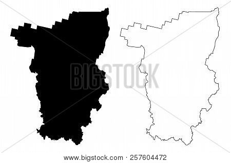 Perm Krai (Russia, Subjects of the Russian Federation, Krais of Russia) map vector illustration, scribble sketch Perm Krai map poster