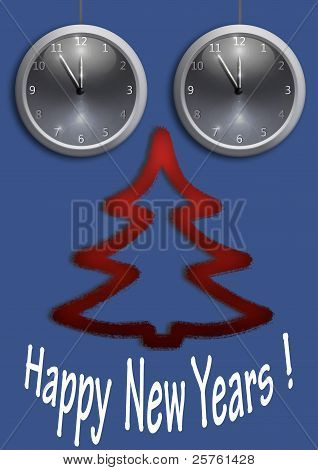 Happy New Year. Blue.