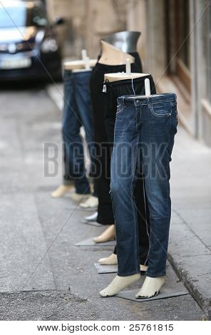 Jeans and mannequins