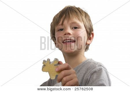 Boy Showing His Cookie