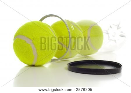 Tennis Ball In Canister