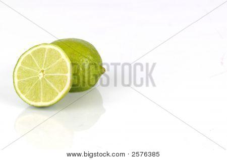 2 Limes Cut In Half