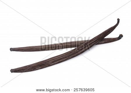 Vanilla Sticks Isolated On A White Background