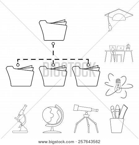 Vector Design Of Education And Learning Logo. Collection Of Education And School Stock Vector Illust