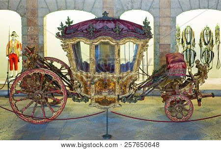 Lisbon, Portugal - March 27, 2009: The National Museum Of Coches (coach)