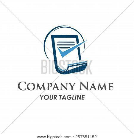 Business Finance Logo - Vector Concept Illustration. Business Economic Logo. Arrows And Info Graphic
