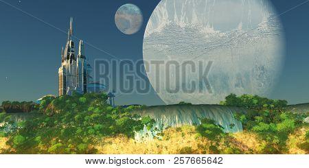 Epsilon Eridani Planet 3d Illustration - The Epsilon Eridani Star System Has Many Planets And An Ear