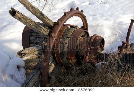 Old Wagon Wheel At Corner Of Hwy 7 & Cr 1