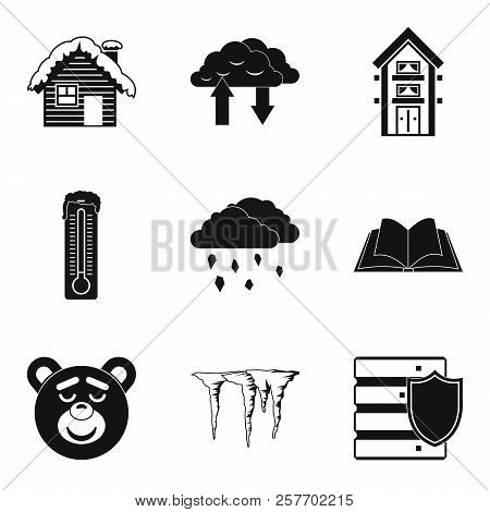 Warm House Icons Set. Simple Set Of 9 Warm House Icons For Web Isolated On White Background
