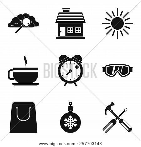 Warm Atmosphere Icons Set. Simple Set Of 9 Warm Atmosphere Icons For Web Isolated On White Backgroun