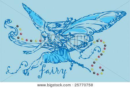 vintage fairy graphic