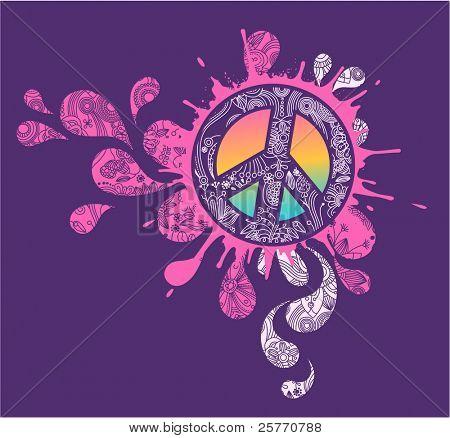 Splattered Peace sign