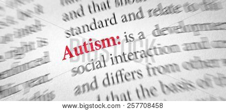 Definition Of The Word Autism In A Dictionary