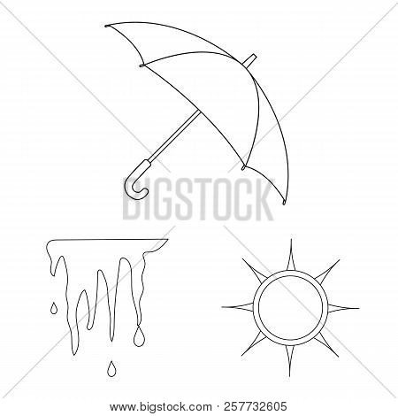 Isolated Object Of Weather And Weather Icon. Collection Of Weather And Application Stock Vector Illu
