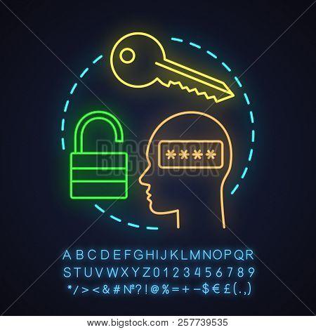 User's Account Neon Light Concept Icon