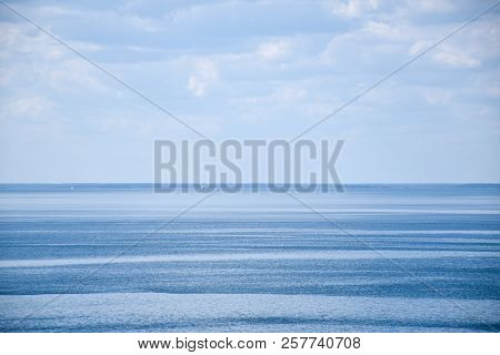 Remote Sailboats In Calm Blue Water In The Baltic Sea