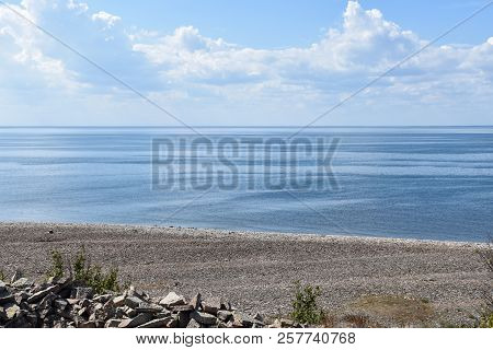 Seaside View By The Coast Of The Island Oland In The Baltic Sea