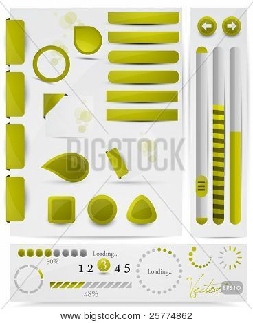 Collection of website elements, vector EPS10.