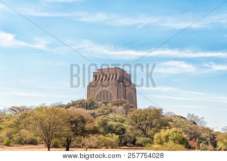 Pretoria, South Africa, July 31, 2018: The Voortrekker Monument, On Monument Hill In Pretoria, Is Si