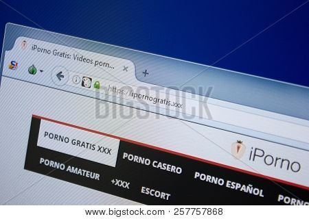 Ryazan, Russia - September 09, 2018: Homepage Of I Porno Gratis Website On The Display Of Pc, Url -