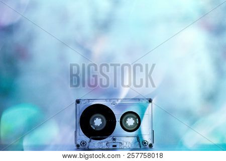 Audio Cassettes For Recorder Bokeh Lights Backgrouns Wallpaper Texture Colorful Beautiful Retro Vint