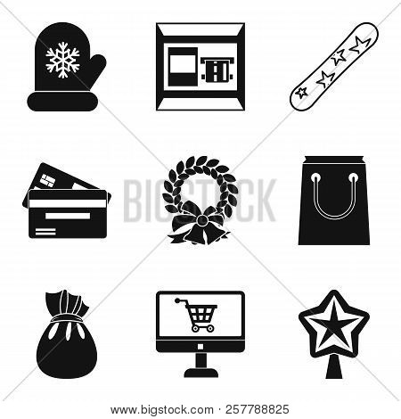 Wintery Icons Set. Simple Set Of 9 Wintery Icons For Web Isolated On White Background